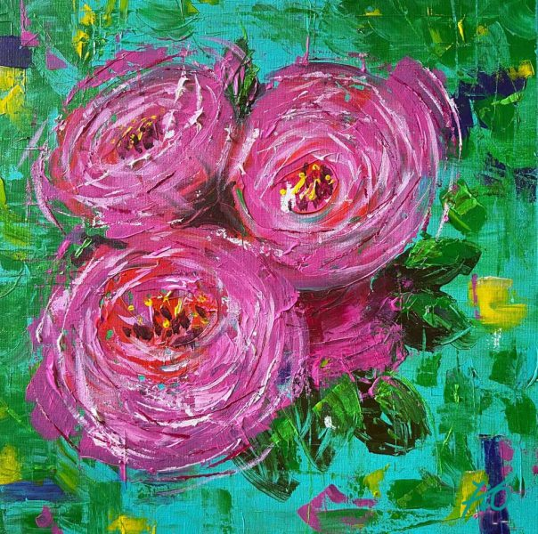 Pink Peonies - Fiona Odle