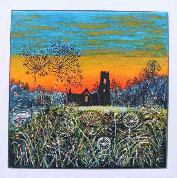 Fountains Abbey Autumn Sunset - Richard Turner