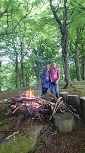 Peter and Michelle in Fishpond Wood